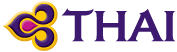 Thai Airways logo – Link to Homepage